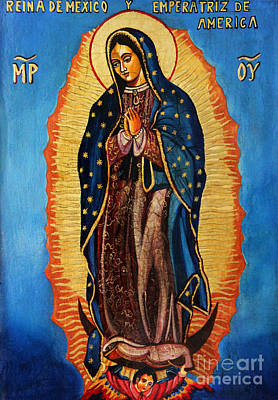 Ikon Painting - Our Lady Of Guadalupe  by Ryszard Sleczka