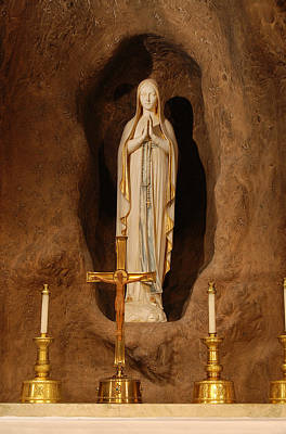 Our Lady Of Lourdes Print by Philip Ralley