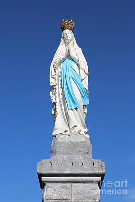 Our Lady Of Lourdes Statue 2 Print by Carol Groenen