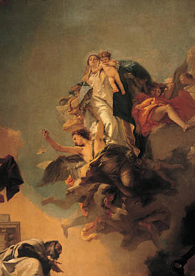 Glare Painting - Our Lady Of Mount Carmel  by Tiepolo Giambattista