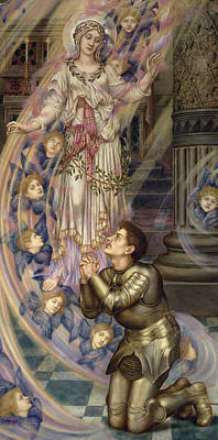 Our Lady Of Peace Print by Evelyn De Morgan