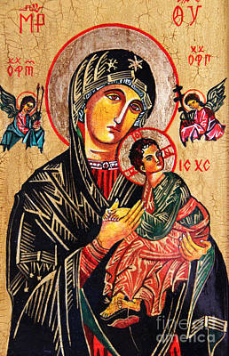 Our Lady Of Perpetual Help Icon Print by Ryszard Sleczka