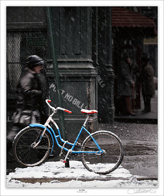 Out For An Ice Ride Print by Lar Matre