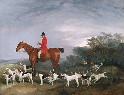 The Horse Painting - Out Hunting by Richard Barrett Davis