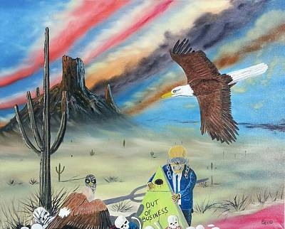 Megadeth Painting - Out Of Business II by Jody Poehl