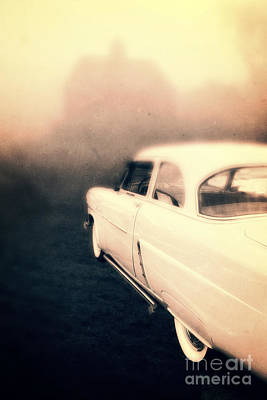 Creepy Photograph - Out Of Gas by Edward Fielding
