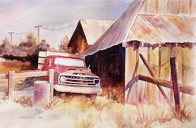 Barn Painting - Out Of Service by John  Svenson