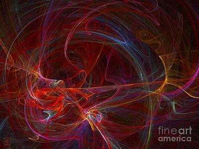 Artport Digital Art - Out Of The Black 2 by Jeanne Liander