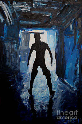 Boy Painting - Out Of The Darkness 2657 by Lars  Deike