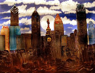 Philadelphia Skyline Painting - Out Of The Muck by Mary Frankenfield