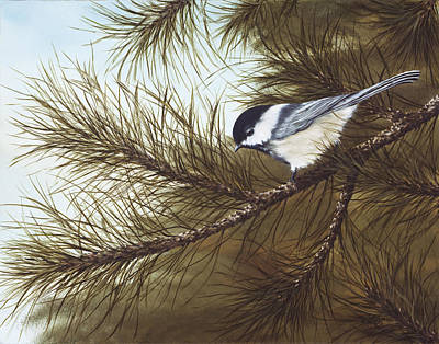 Chickadee Painting - Out On A Limb by Rick Bainbridge