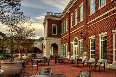 Outdoor Dining At The Courtyard Dining Hall Of Wcu Print by Greg and Chrystal Mimbs