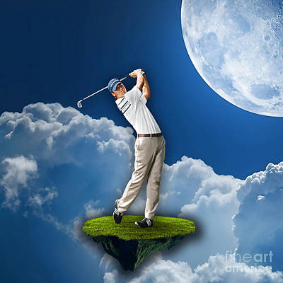 Outdoor Golf Print by Marvin Blaine