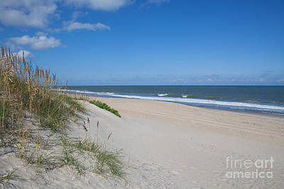 Outer Banks Beach  Print by Kay Pickens