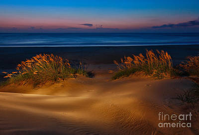Outer Banks - Before Sunrise On Pea Island I Print by Dan Carmichael
