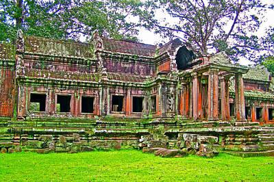 Angkor Digital Art - Outer Building Of Angkor Wat In Angkor Wat Archeological Park Near Siem Reap-cambodia  by Ruth Hager