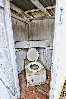 Outhouse A Look Inside Print by Paul Ward
