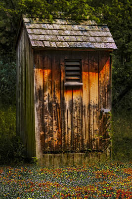 Door Photograph - Outhouse Shack by Susan Candelario