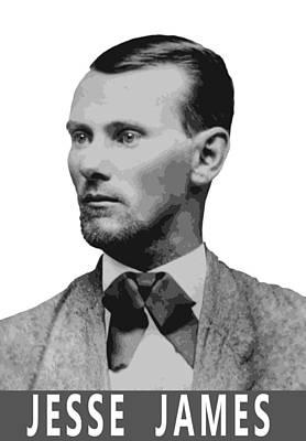 Anderson Digital Art - Outlaw Jesse James by Daniel Hagerman
