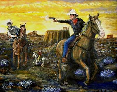 Outlaw Trail Print by Larry E Lamb