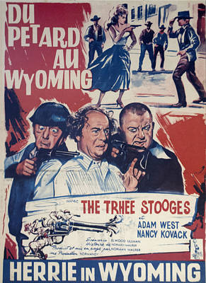 Outlaws Is Coming Print by Official Three Stooges