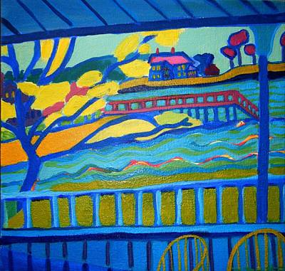 Mansion By The Ocean Painting - Outlook by Debra Bretton Robinson