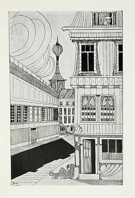 Outside A House Print by British Library