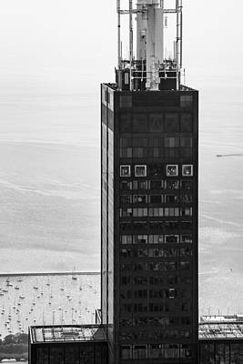 Helicopter Photograph - Outside Looking In - Willis Tower Chicago by Adam Romanowicz