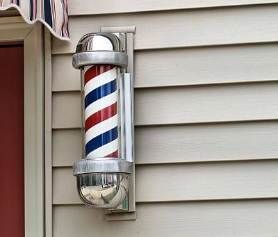S Pole Photograph - Outside The Barbershop by Dan Sproul