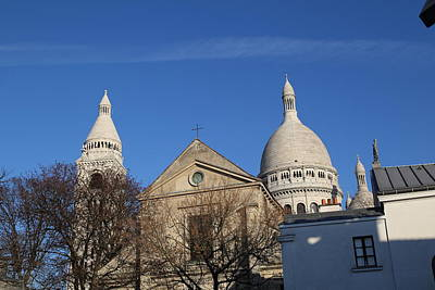 Outside The Basilica Of The Sacred Heart Of Paris - Sacre Coeur - Paris France - 01131 Print by DC Photographer
