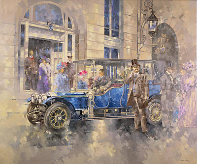Outside The Ritz Print by Peter Miller