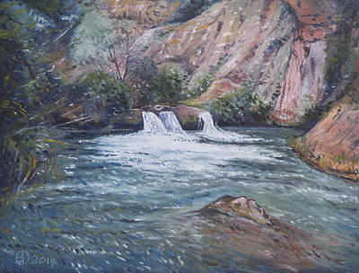 Painting - Ouzoud Waterfalls Tanaghmeilt Morocco by Enver Larney
