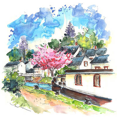 Blooming Drawing - Ouzouer Sur Trezee 07 by Miki De Goodaboom