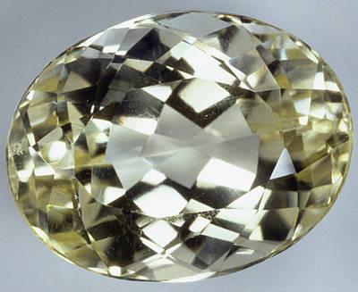 Crystalline Photograph - Oval Brilliant-cut Amblygonite by Dorling Kindersley/uig
