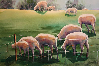 Over The Hill Print by Roxanne Tobaison