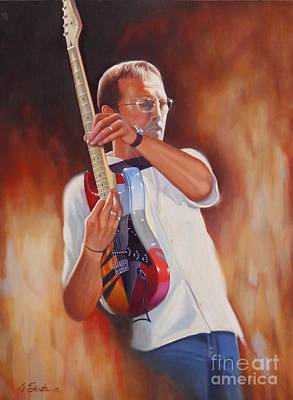 Eric Clapton Painting - Over The Top by Glenn Santos
