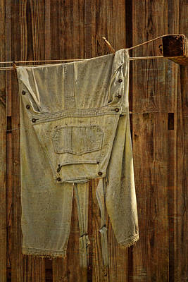 Overalls Drying Print by Nikolyn McDonald