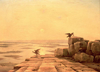 Overflow Of The Nile, 1842 Oil On Canvas Print by Grigory Tchernezov