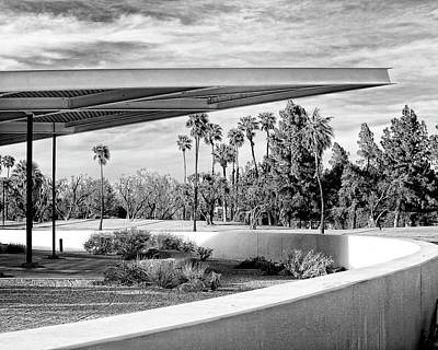 Rooftop Photograph - Overhang Bw Palm Springs by William Dey
