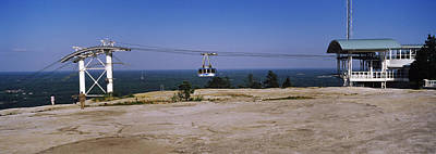 Built Structure Photograph - Overhead Cable Car On A Mountain, Stone by Panoramic Images