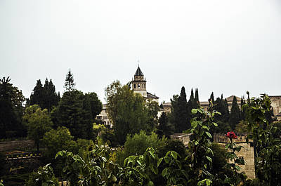 Rainy Day Photograph - Overlooking The Alhambra On A Rainy Day - Granada - Spain by Madeline Ellis