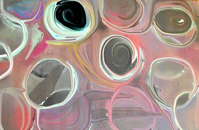 Overspray Print by Paula Brown