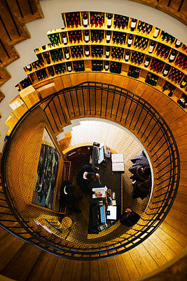 Food Stores Photograph - Overview Of The Lintendant Wine Shop by Panoramic Images