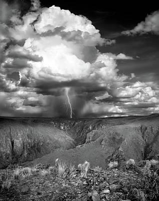 Lightning Photograph - Owhyee Lightning by Leland D Howard