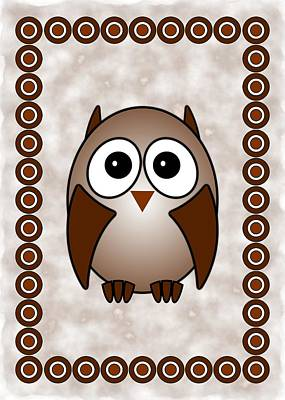Owl - Birds - Art For Kids Print by Anastasiya Malakhova