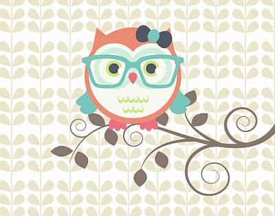 Owls 2 A Print by Tamara Robinson