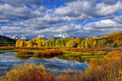 Autumn Photograph - Oxbow Autumn 2013 Limited Edition by Greg Norrell