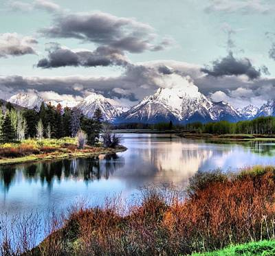 Reflections In River Photograph - Oxbow Bend by Dan Sproul