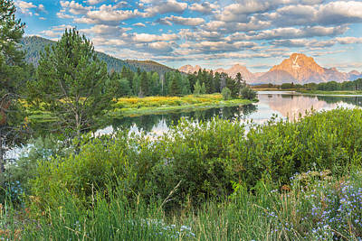 Reflection Photograph - Oxbow Bend Summer Sunrise - Grand Teton National Park by Andres Leon