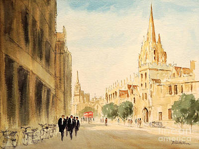 University School Painting - Oxford High Street by Bill Holkham